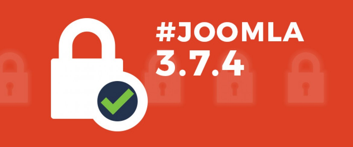 Security update Joomla 3.7.4